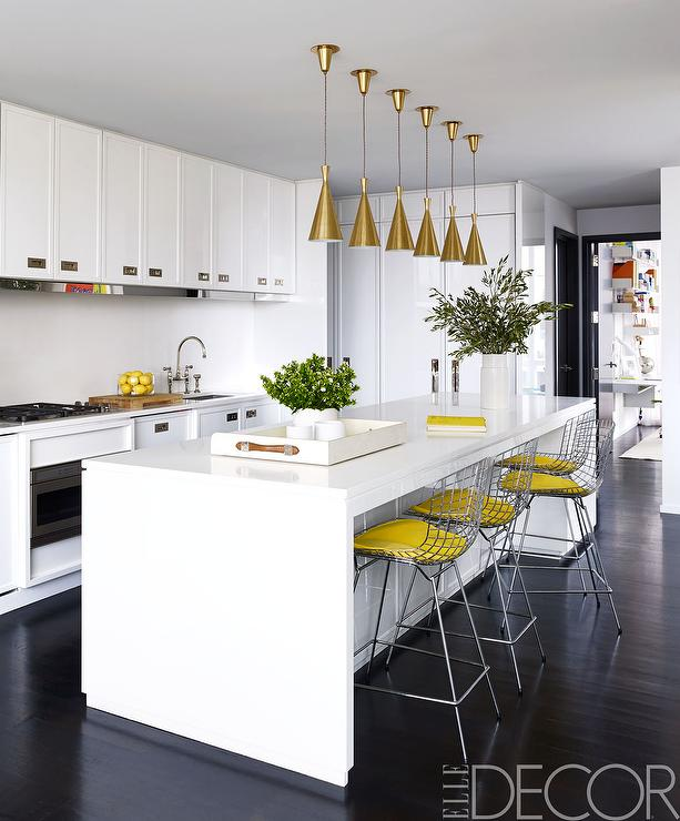 white and yellow kitchen design contemporary kitchen