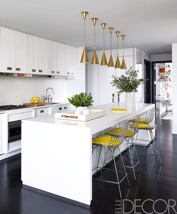 White and Yellow Kitchen Design - Contemporary - Kitchen