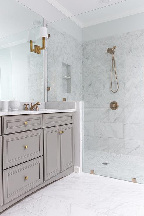 White Marble Bathroom : White porcelain marble like bathroom tiles contemporary