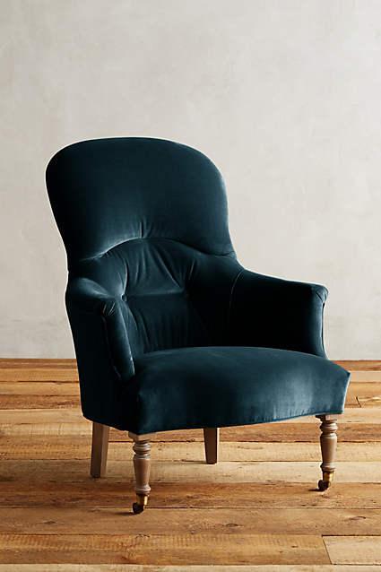 Velvet Tillie Purple Armchair