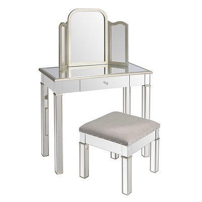 Mirrored Silver Vanity Look 4 Less And Steals And Deals