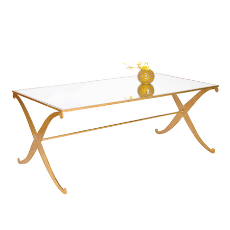 Worlds Away Klismos Coffee Table Gold Leaf Look For Less