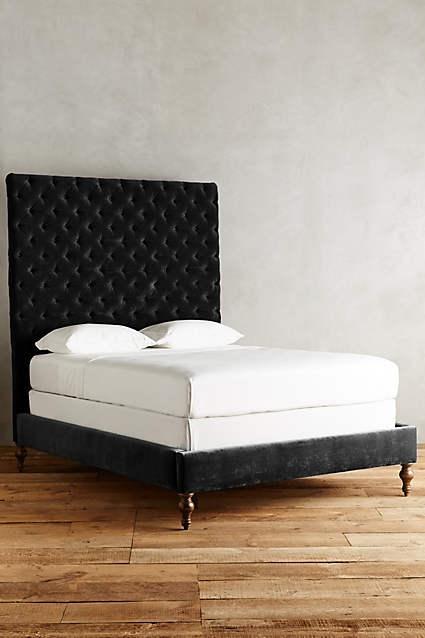 Velvet Tufted Denouement Bed In Black