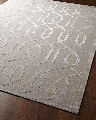 Exquisite Rugs Eddy Ray Rug In Silver