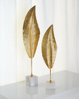 John-Richard Collection Golden Leaf Sculptures
