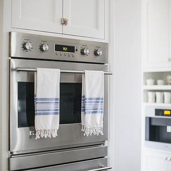 Double Ovens Between Cabinets