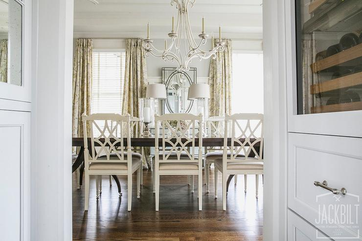 Dark Dining Table With White Dining Chairs French