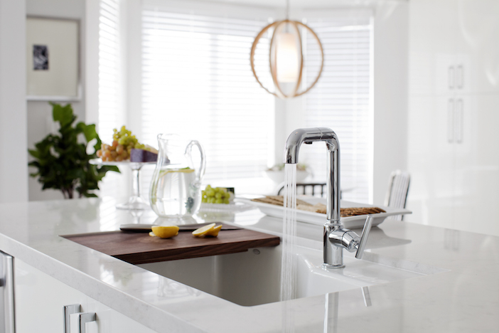 Kitchen Island Sink With Sliding Cutting Board
