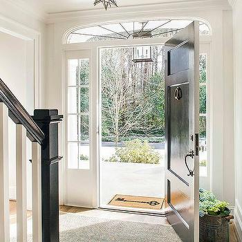 black front door with sidelightsBlack Front Door Design Ideas