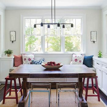 Built In Bench with Trestle Dining Table