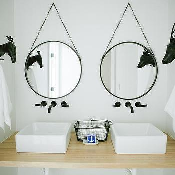 Kids Bathroom With Vessel Sinks