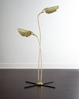 Rimini Floor Lamp In Gold And Black