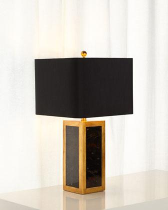 Attractive Viceroy Table Lamp In Black And Gold
