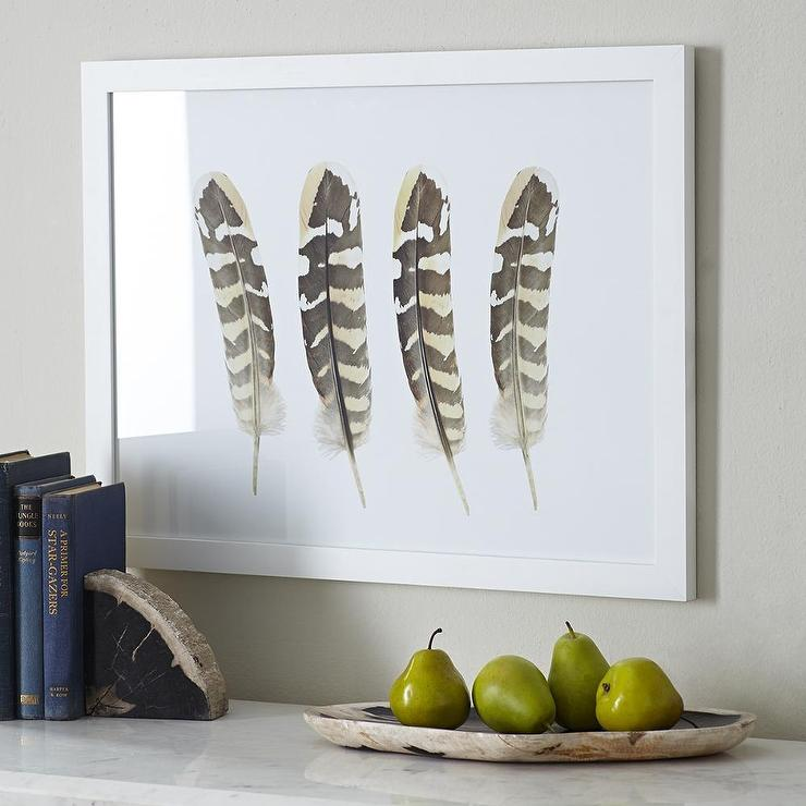 New Four Feathers Wall Art in Natural EB66