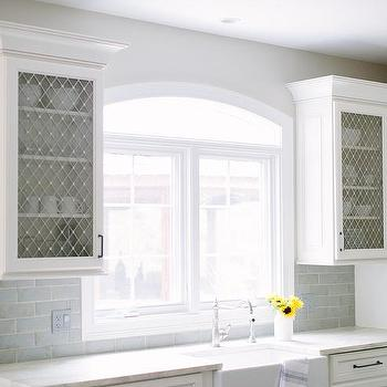 Kitchen Cabinets With Metal Lattice Doors