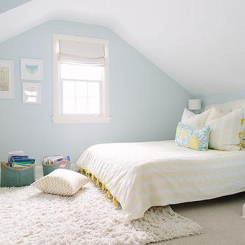 yellow and blue kids bedroom design