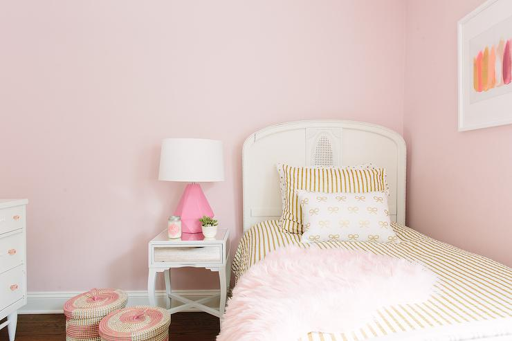 Pink and Gold Girl Bedroom - Contemporary - Bedroom