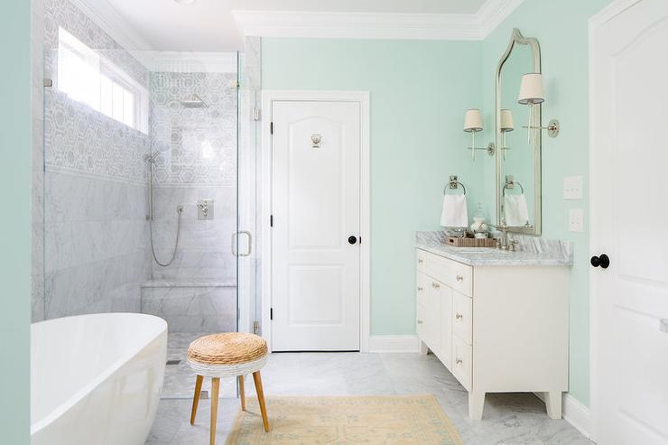 Soothing paint colors for bathrooms design ideas for Green bathroom paint colors