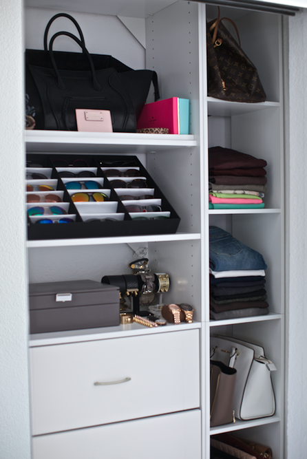 Closet With Vertical Cubbies