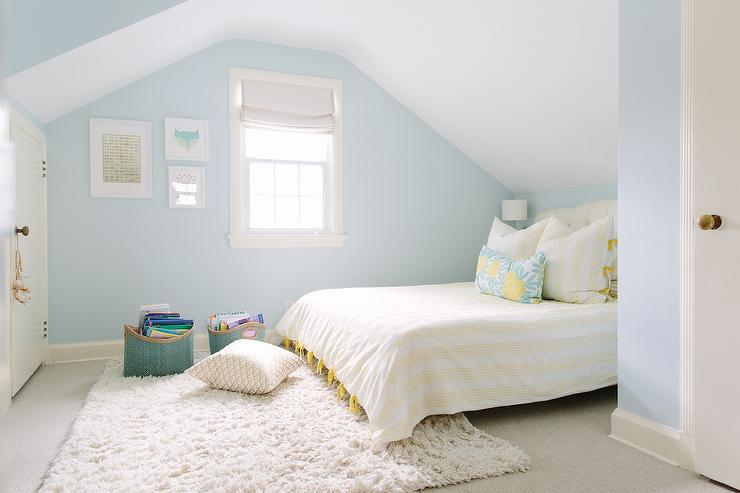 Yellow And Blue Kids Bedroom Design Contemporary Girl