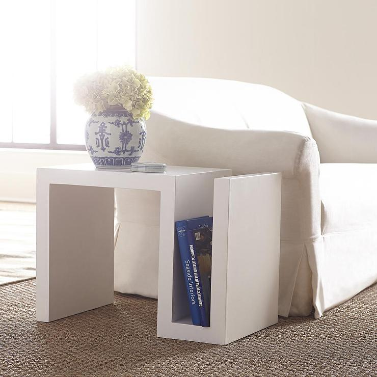 S Side Table In White