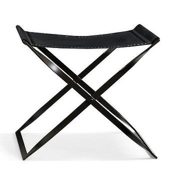 Amazing Black Leather Folding X Stool Pabps2019 Chair Design Images Pabps2019Com