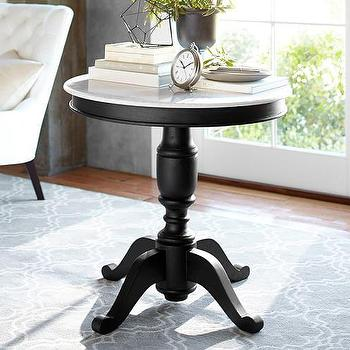 Superior Terri Large Pedestal Table In Black