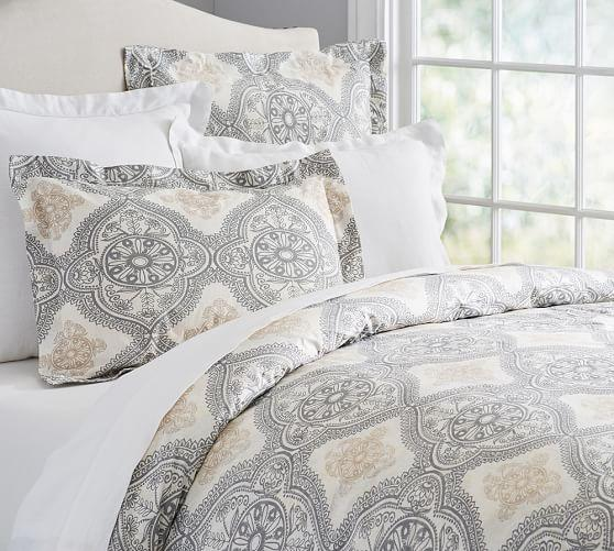 Mason Duvet Cover and Sham in Grey