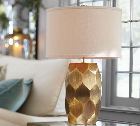 Vince table lamp base in gold aloadofball Images