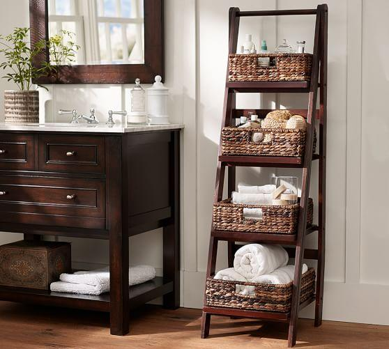 Lucas Reclaimed Wood Bath Ladder Storage Pottery Barn