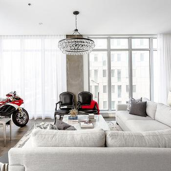 Living Room With Ducati Motorcycle