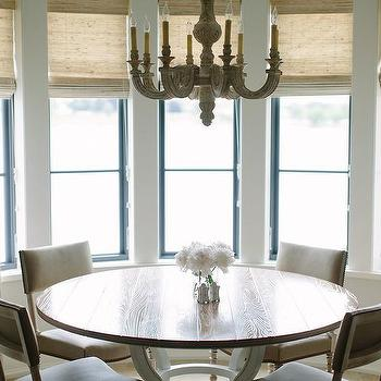 Round Dining Table With Gray Dining Chairs