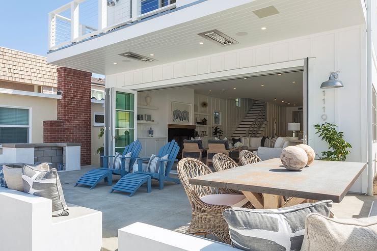 Seaside Patio With Folding Glass Doors