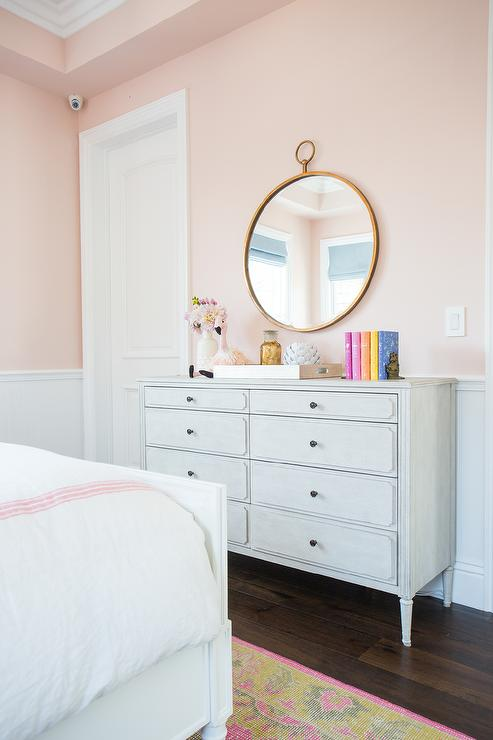 Pink paint colors for girl room transitional girl 39 s room benjamin moore love and happiness - Paint colors for girl rooms ...
