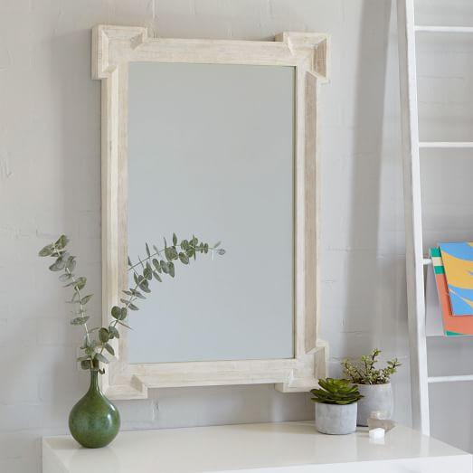 Famous Cornerstone Floor Mirror in White NI56