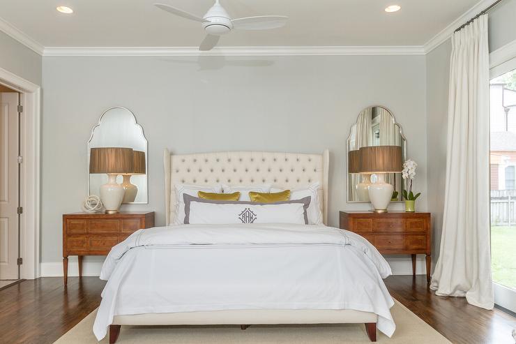Mirrored Nightstand Bedroom