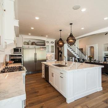 J Craft Homes · Arched Alcove Over Double Door Refrigerator