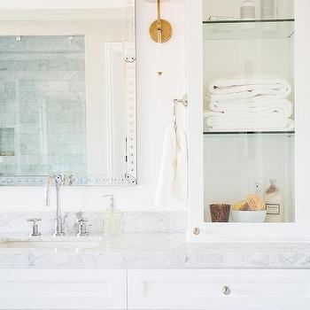 Long White Glass Bathroom Wall Sconces Design Ideas - Long bathroom sconces