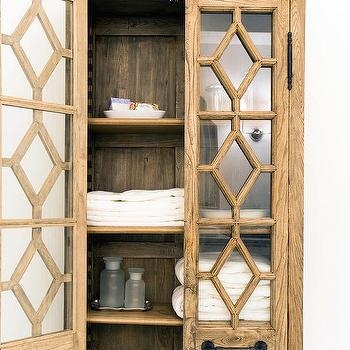 Merveilleux Georgian Fretwork Glass Double Door Cabinet