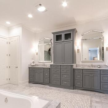 Grey bathroom cabinets design ideas for Grey bathroom cupboard