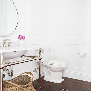 Pottery Barn Powder Room Mirror Design Ideas