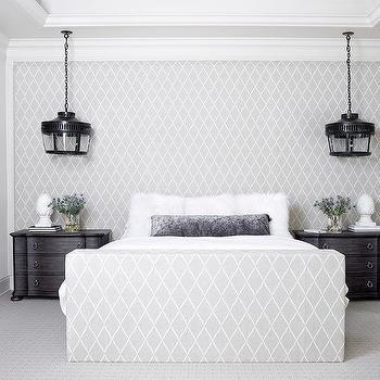 Fabric Paneled Wall As Headboard
