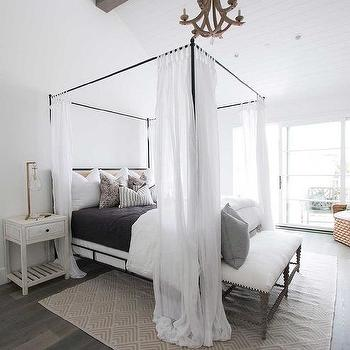 Arteriors Manning Chandelier Above Canopy Bed