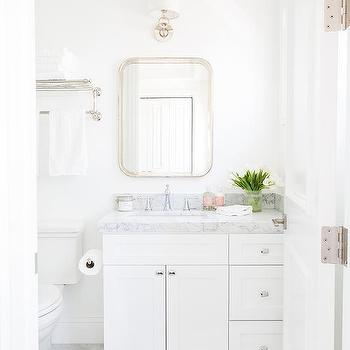 Restoration hardware astoria flat mirror design ideas for Large flat bathroom mirrors