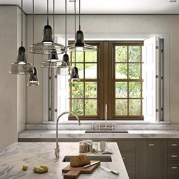 Smoke Gray Glass Island Light Pendants Design Ideas - Lighting pendants for kitchen islands