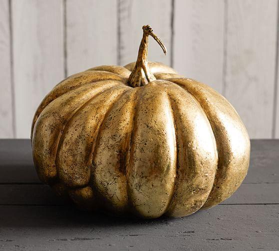 Metallic Gold Pumpkins