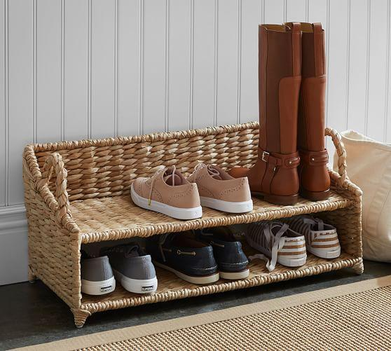 White Mudroom Shoe Rack