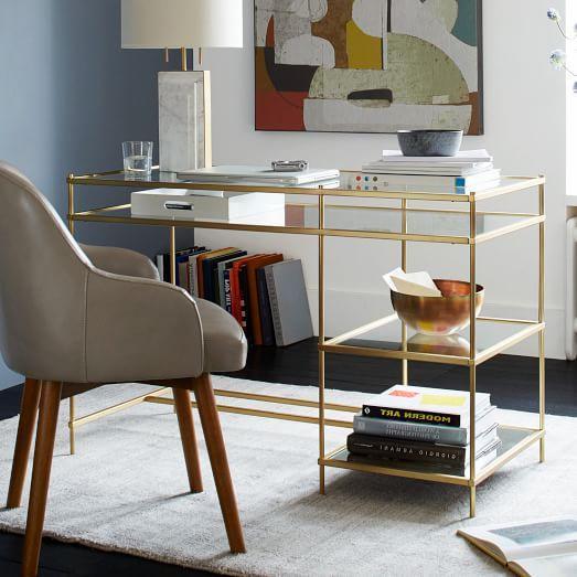 Terrace Desk In Brass