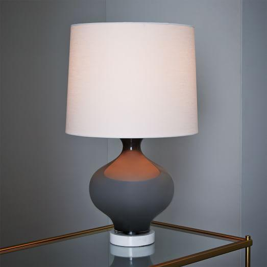 west elm rejuvenation colored glass table lamp in grey. Black Bedroom Furniture Sets. Home Design Ideas