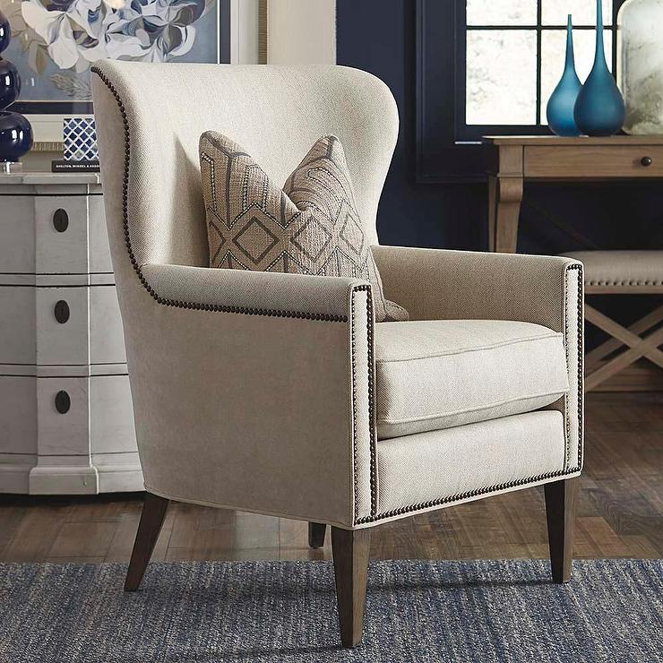 & Victoria Accent Chair in Natural